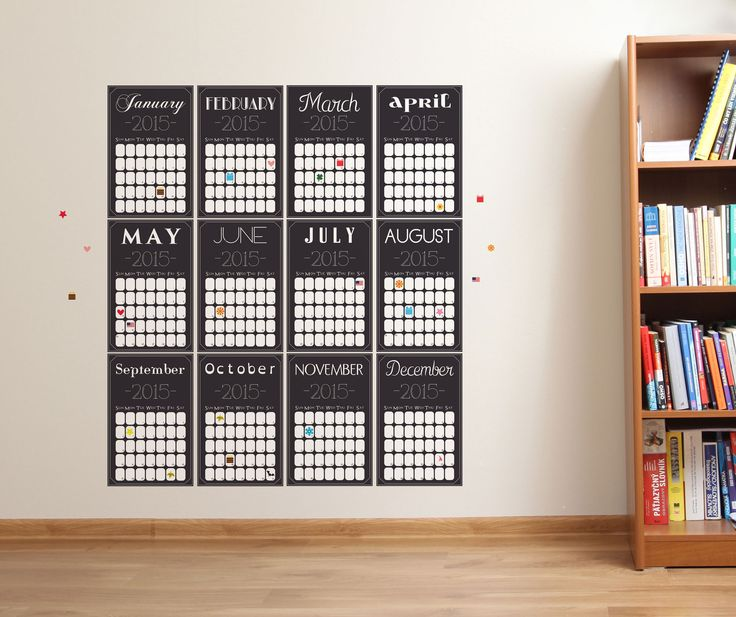 Removable Wall Decals; Months Are Separate So Can Arrange In Any Shape
