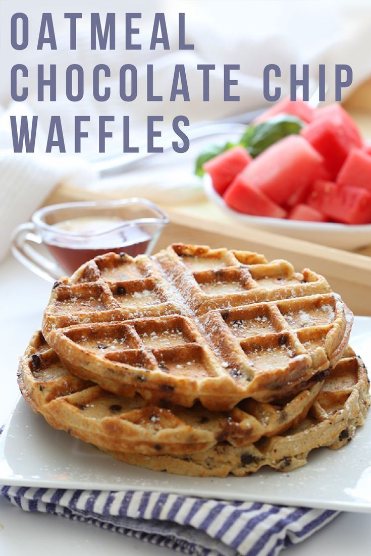 These sweet and crispy Oatmeal Chocolate Chip Waffles are the ultimate gluten-free and healthy breakfast made from wholesome ingredients! Everybody loves waffles, but knows they aren�t the healthiest way to start the day. Not anymore! These waffles ARE he