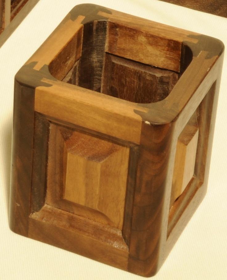Wooden Pen Stand Designs : Wooden pencil holder holders pinterest