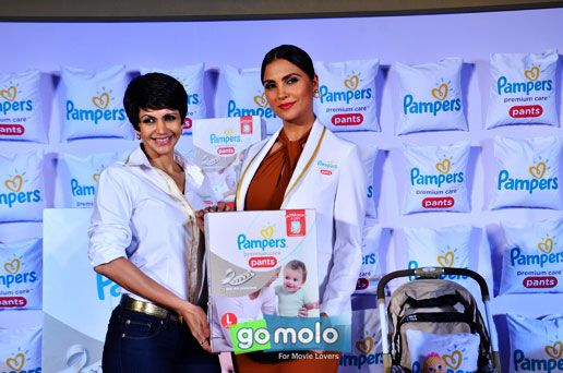 Mandira Bedi & Lara Dutta at the Launch of 'Pampers Premium Care Pants' in Mumbai