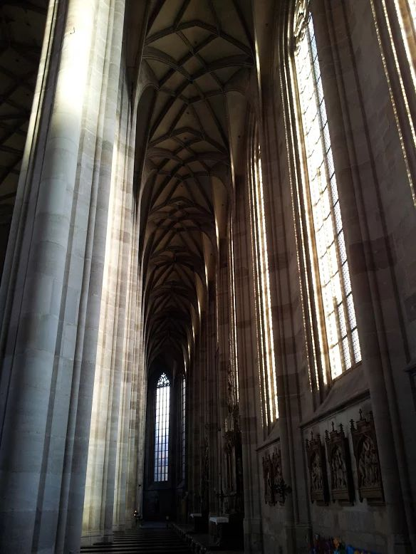 Impressive Münster church in Dinkelsbühl, county Ansbach