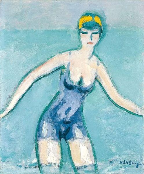 """Kees van Dongen    Dutch      1877 - 1968    """"The Bather"""""""