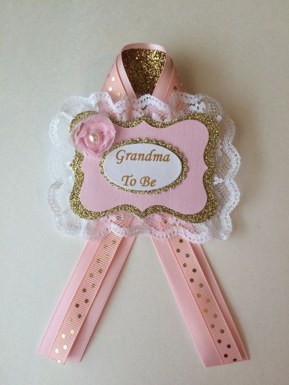 Grandma To Be Corsage Baby Shower Grandma To Be Pin Pink And Gold
