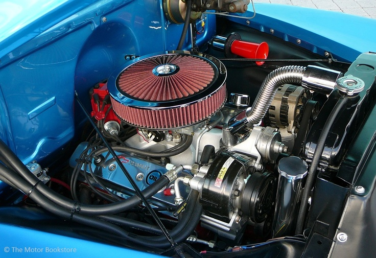 1954 Chevy 3100 Pickup Truck Engine Bay Detail Downtown