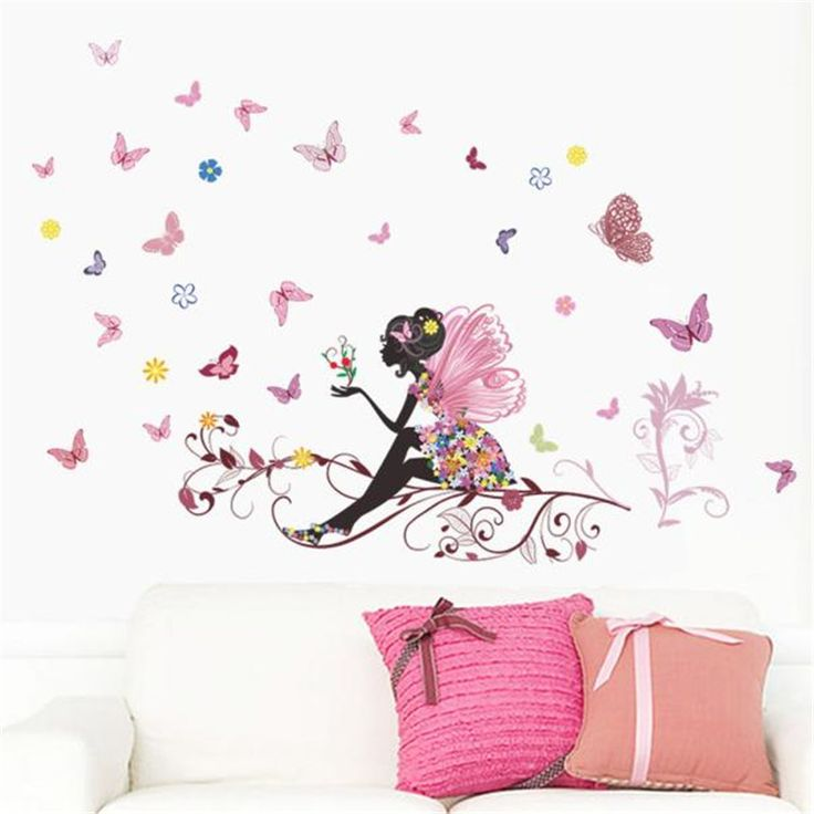 Butterfly Fairy Wall Sticker //Price: $9.99 & FREE Shipping //     #DIY