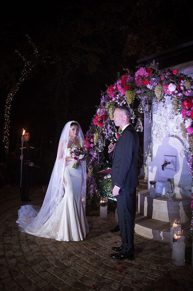Night wedding ceremony Plea groom Plea bride