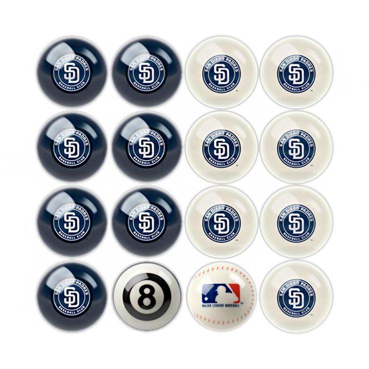 San Diego Padres MLB 8-Ball Billiard Set