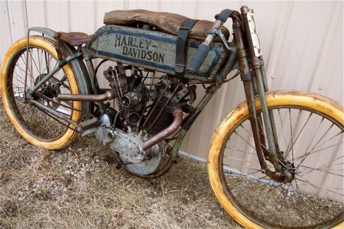 1915 H-D 8 valve board track racer. Reproduction or restoration? Can you tell?