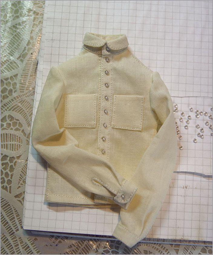 Рубашка для куклы. Автор - Шабурова Ксения.