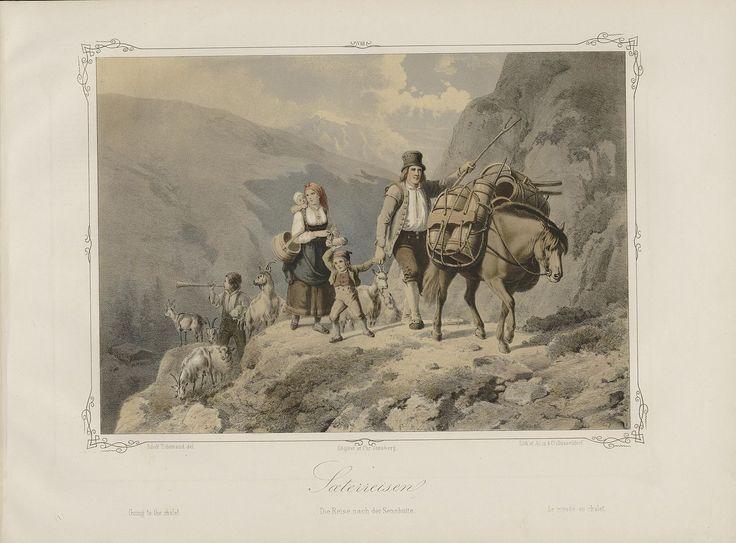 Norske Folkelivsbilleder - Adolph Tidemand - Sæterreisen. jpg (1280×946)