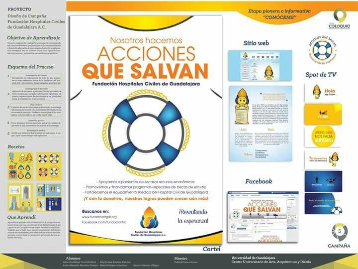 Proceso de trabajo para diseño de campaña para Hospitales Civiles de Guadalajara. En colaboración con: Belén Mendoza,  Alma Mendoza, Nayeli Ramírez, Karla Tamayo