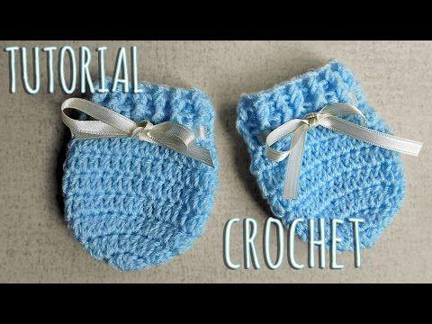 Como tejer a crochet manoplas para bebes-Unisex - YouTube