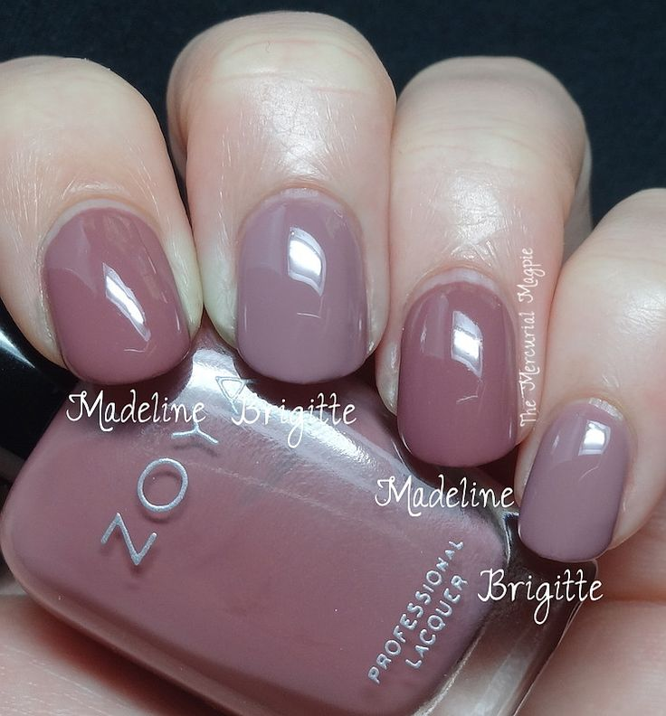 Zoya Madeline vs Zoya Brigitte  I compared this with a shade from the original Naturel collection, Zoya Brigitte. Again, not a dupe at all, Brigitte is lighter. I do think if you love Brigitte, you definitely need Madeline.