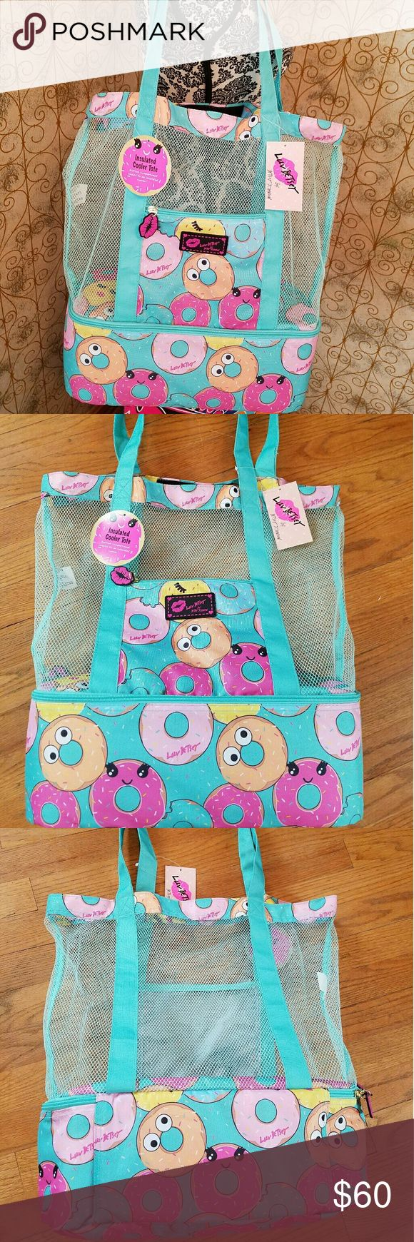 "⛱NWT-BETSEY JOHNSON BEACH TOTE WITH BOTTOM COOLER! ⛱NWT-BETSEY JOHNSON BEACH TOTE WITH BOTTOM COMPARTMENT THAT UN ZIPS TO AN INSULATED COOLER! THIS IS SO SUPER COOL FOR THE BEACH, PICNIC OR A DAY OUT SO MANY USES ONCE AGAIN SHE HAS OUT DONE HERSELF WITH THIS AMAZING BAG😍 DEFINITELY A MUST HAVE FOR SUMMER. PLENTY OF ROOM TO CARRY YOUR BELONGINGS OFFERS A ZIPPER IN THE FRONT. IT'S GREAT BECAUSE IT'S A MESH BAG EASY TO CLEAN AND SHACK OUT THE SAND JUST AMAZING!!  SIZE: TOTAL L19""X16W - FROM…"