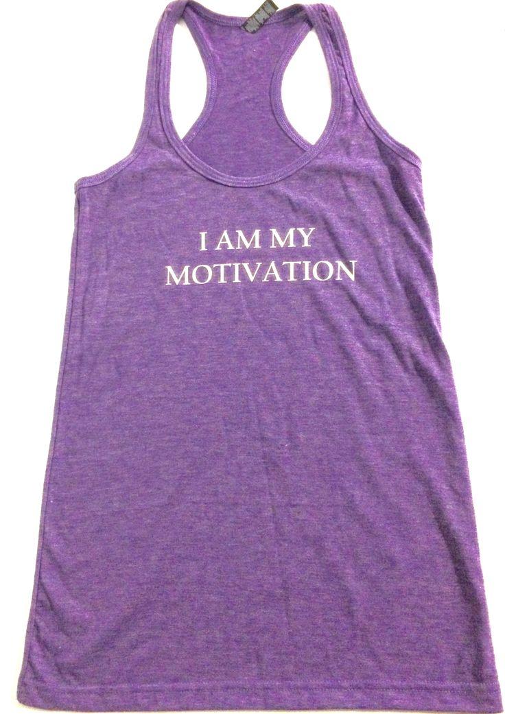 Iddy Biddy fitness apparel tank I Am My Motivation  http://www.iddybiddyfit.com/product-page/f798b9d3-316f-be5c-47fd-07ce16a28e91