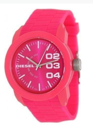 Diesel  Neon Pink Silicone watch