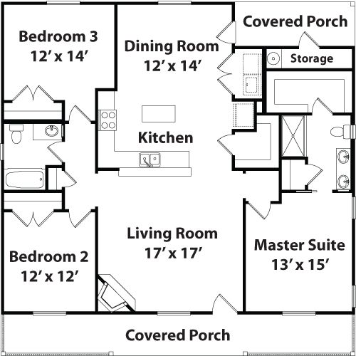 Best 25 small guest houses ideas on pinterest small for Four square house plans with garage