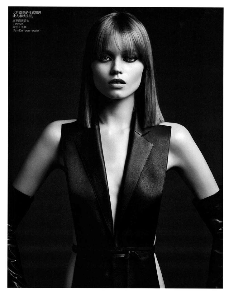 Abbey Lee Kershaw by Hedi Slimane in Skin Deep for Vogue China August 2010