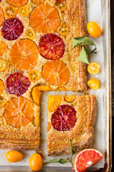 Rustic citrus almond tart. WOW your dinner party with a #Winepairing of Sutter Home Red Moscato.