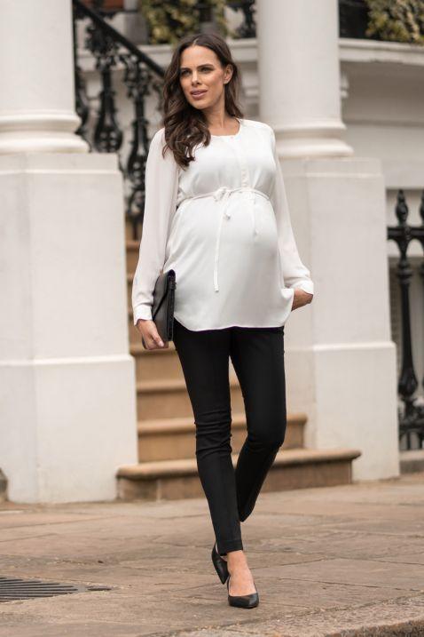 Maternity blouse with back details / maternity wear / business maternity wear … – … – Schwangerschaft