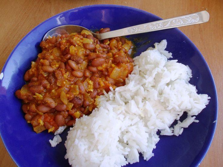 Fazolové kari s basmati rýží
