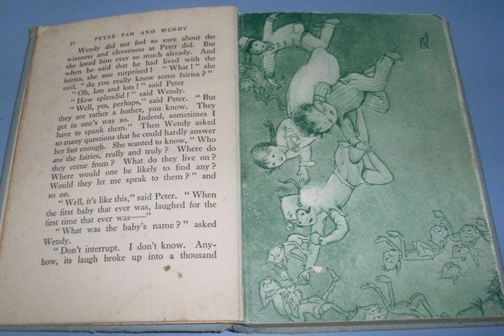 VINTAGE 50s CHILDREN'S BOOK J.M. BARRIE'S PETER PAN & WENDY -MABEL LUCIE ATTWELL in Books, Magazines | eBay