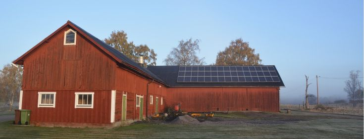 Installation gjord på ett tak strax norr om Enköping