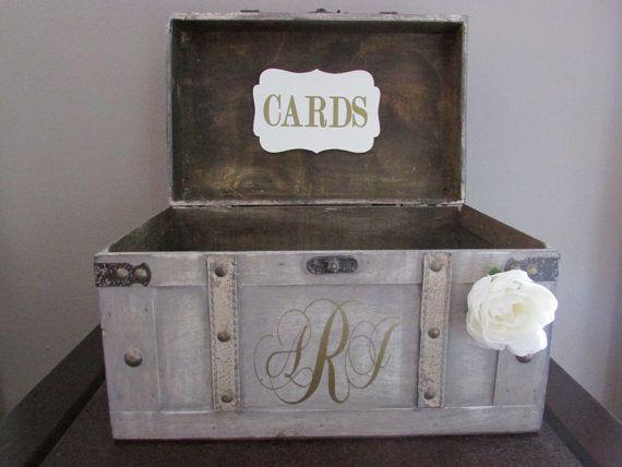 Vintage Wedding Card Box Rustic Wedding Card Box by AnArtsyAffair, $57.00