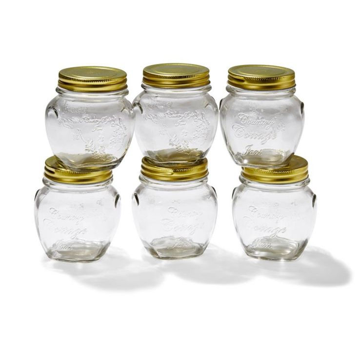 set Of 6 300ml Jam Jars homemaker