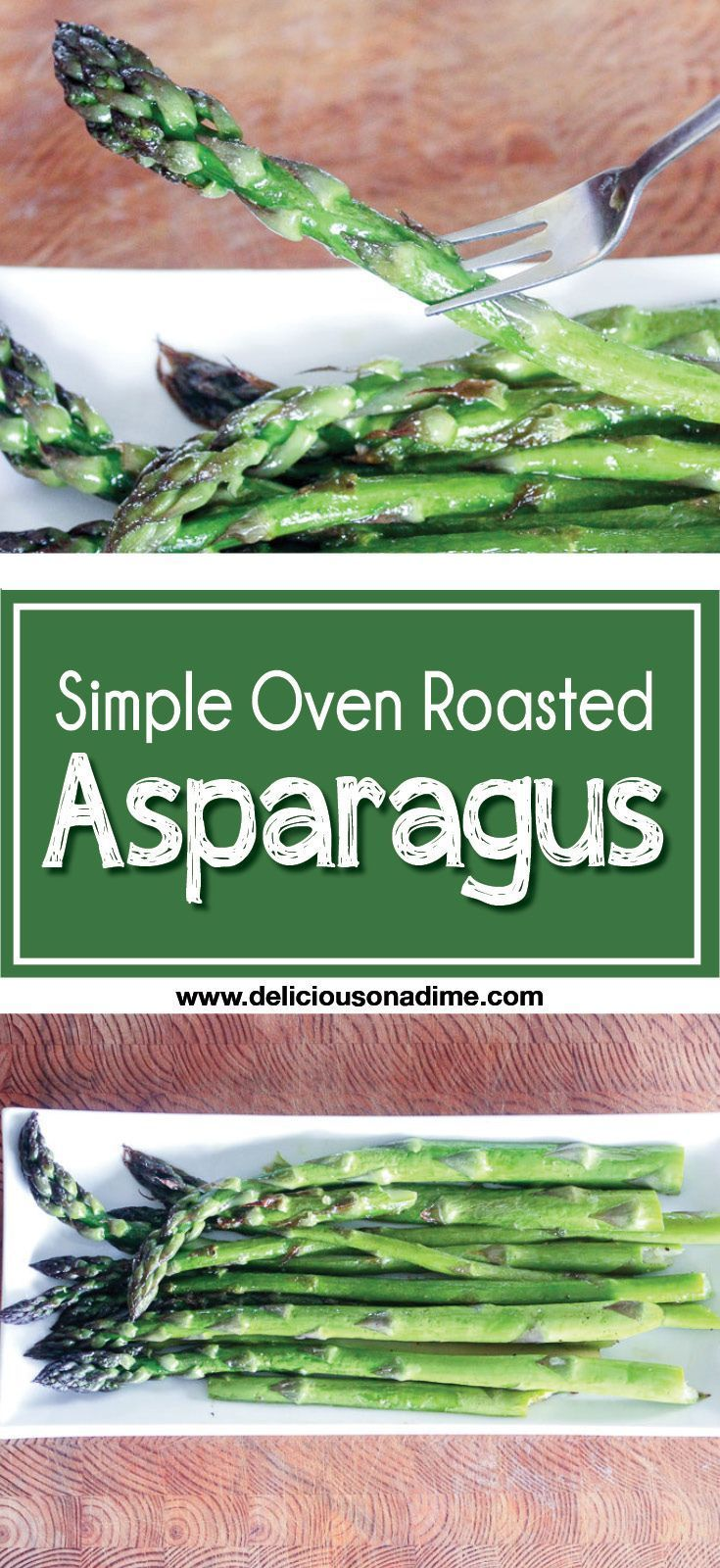 This Simple Oven Roasted Asparagus takes just a few minutes to make and tastes the way asparagus should. It's the perfect addition to any meal, and the perfect solution for anyone who has ever asked how to cook asparagus. Three ingredients and ready in five minutes? Yes, please!