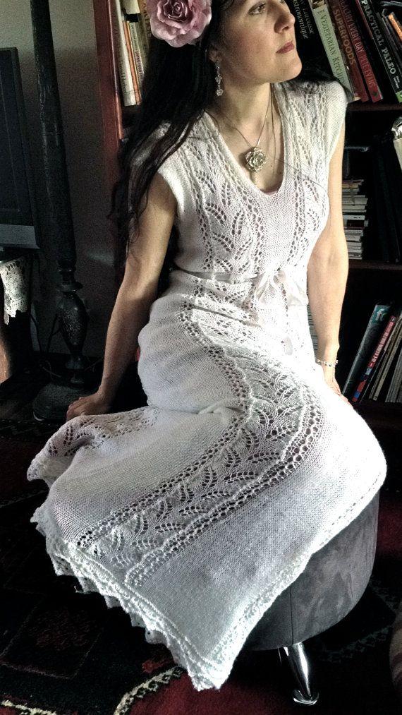 Knitting pattern Woodland Fern Wedding Dress on Etsy (affiliate link)
