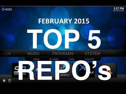 XBMC / KODI 2015 - Top 5 Repos / Sources