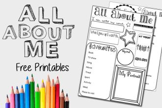 'All About Me' Activity Sheet