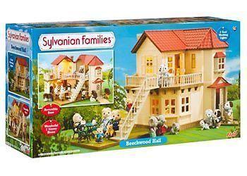 ♥ Sylvanian Families - Beechwood Hall Toy Girls Boys Toy Pretend Play Gift Xmas♥