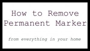 Permanent Marker removal from all sorts of things!