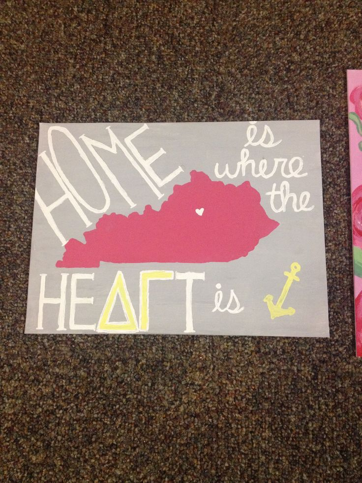 """Home is where the Heart is"" delta gamma crafts"
