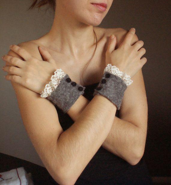 Wool felt cuff bracelets