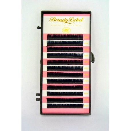 Beauty Label D+ krul mix 8mm t/m 14mm Staat  Nieuw  Dit doosje bevat 12 rijtjes wimperextensions van verschillende lengtes : 8,9,9,10,10,11,11,12,12,13,13,14mm. De D krul heeft de scherpste krul. De D+ krul kun je vergelijken met een U krul. De wimpers zijn in veel verschillende diktes en lengtes verkrijgbaar; dikte: 0.10,0.15,0.20,0.25 en lengte : 8t/m15mm