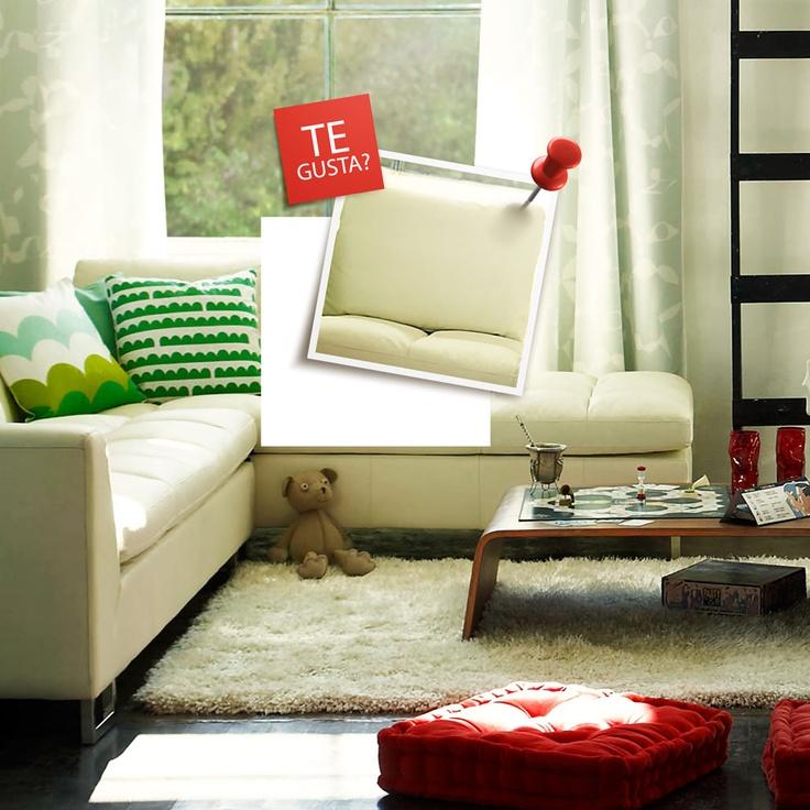 Sofá de cuero blanco, ¿Te gusta? Participa por uno eres.ripley.cl/