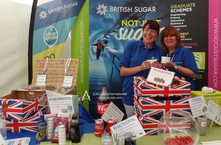 Great smiles from these cheerful ladies promoting British Sugar.