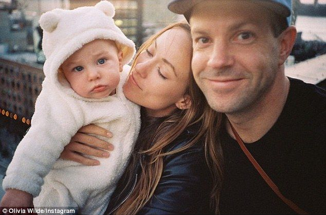 Bear-y cute: Olivia Wilde shared a photo with Jason Sudeikis and their son Otis for Throwback Thursday
