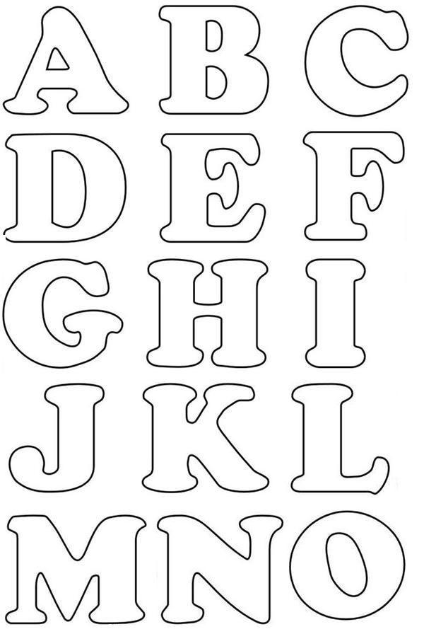 Moldes de letras del alfabeto para imprimir - Imagui