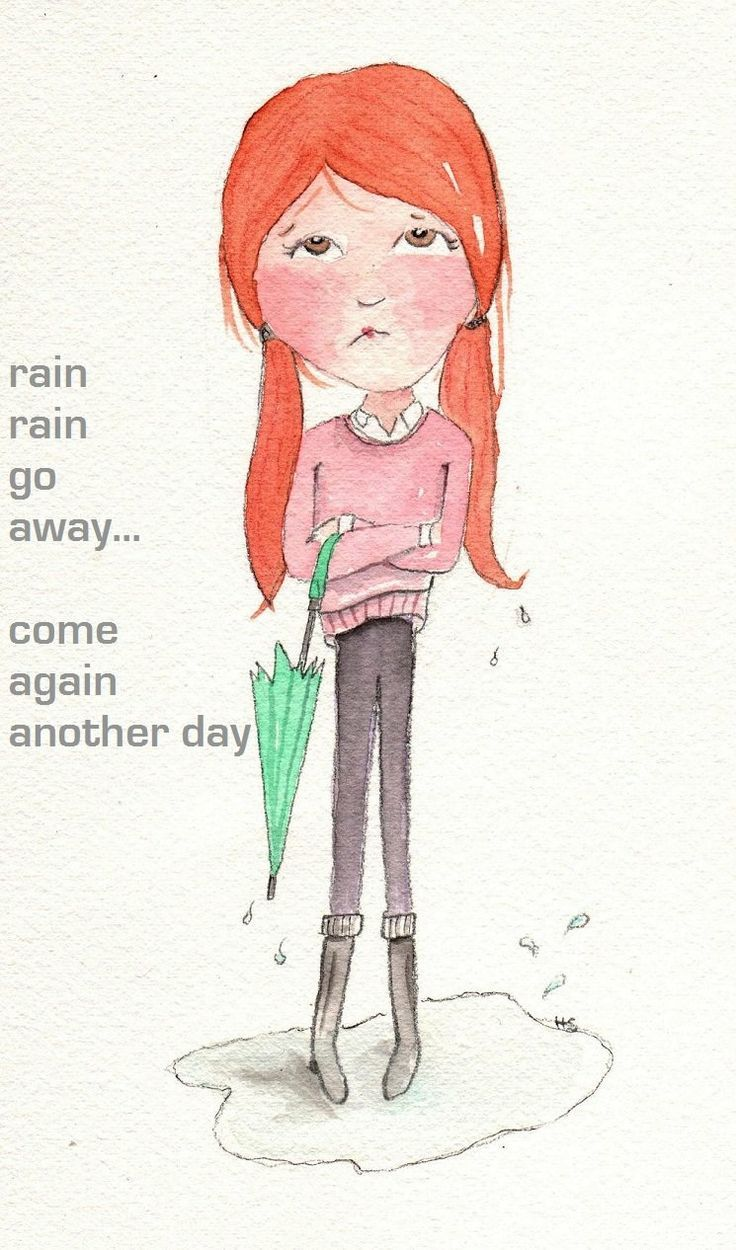 chuva chuva vá embora e volte outro dia