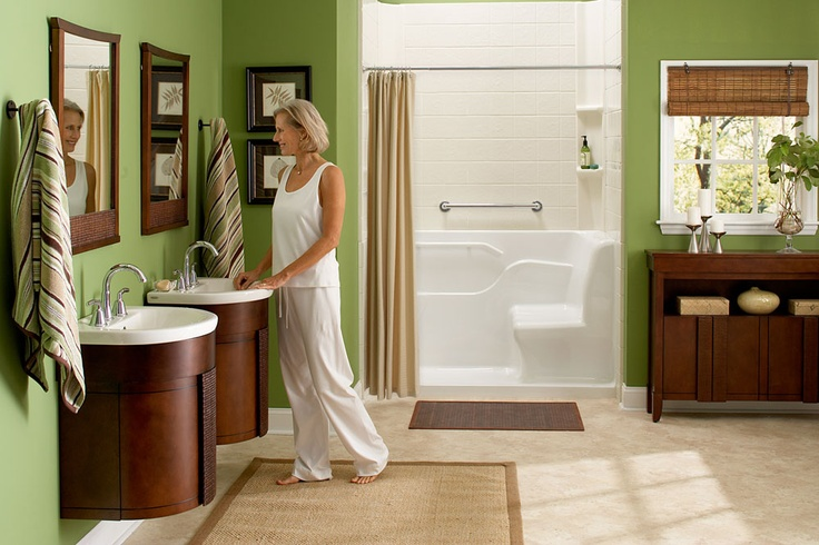 Disregard conventional bathroom design and try something new.  The Tropic® collection will give any bathroom a bohemian and natural feel. This Tropic® Suite incorporates the Acrylic Seated Safety Shower for a luxuriously comfortable showering experience. The rich nutmeg finish and rattan accents of the Tropic Wall Hung Washstand. Console and Mirror add the finishing touch, lend depth and flair to any bathroom. Learn more > http://www.americanstandard-us.com/safe-and-accessible/
