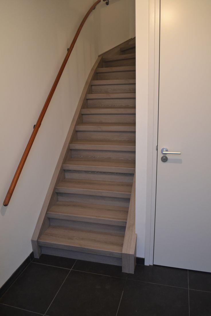 Ook een nieuwbouw trap is geschikt voor onze HPL overzettredes.