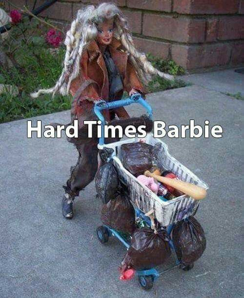 "★ ""Hard Times Barbie"" ★ Survive, Thrive, Inspire, & LYAO! )O(…"