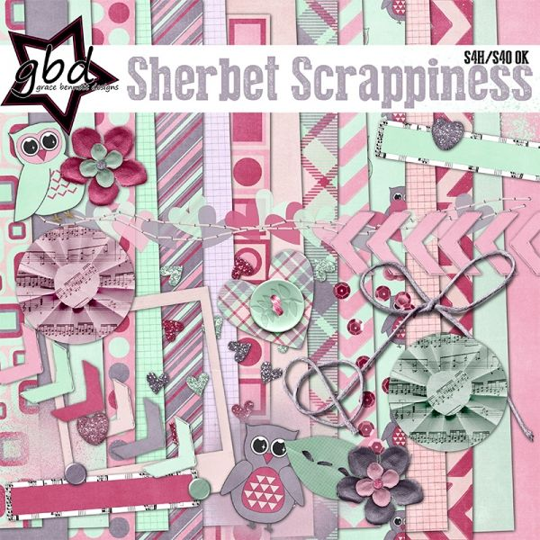 Sherbet Scrappiness :: Memory Scraps