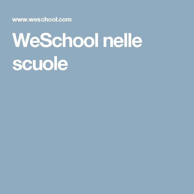 WeSchool nelle scuole
