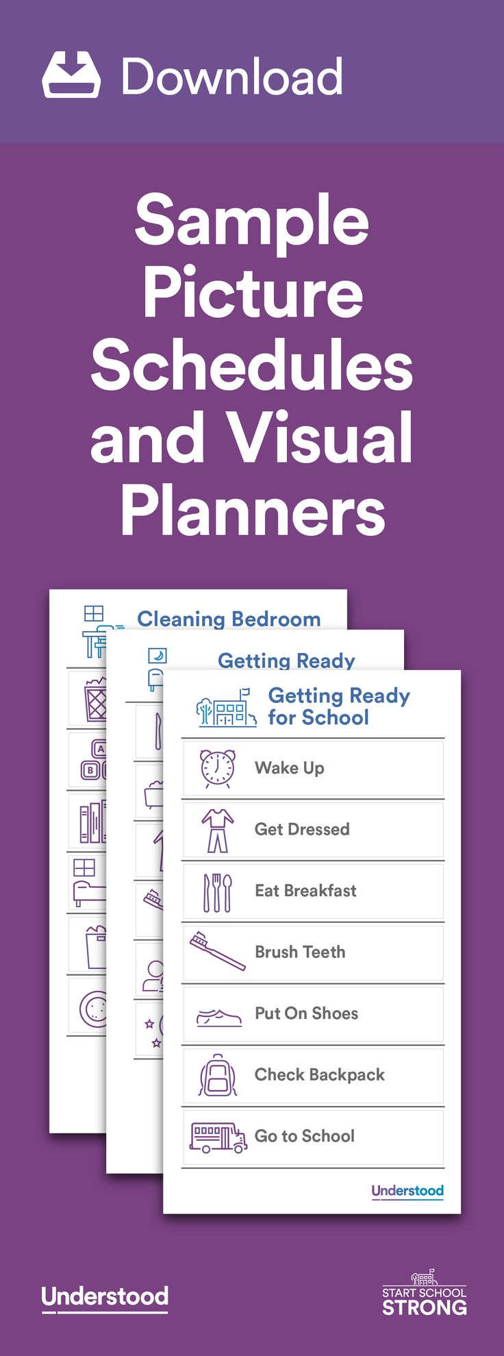 Picture schedules and visual planners can help kids who have trouble with organization stay on top of routines and feel more confident. For many kids, picture schedules are easier to follow and less overwhelming than written schedules.