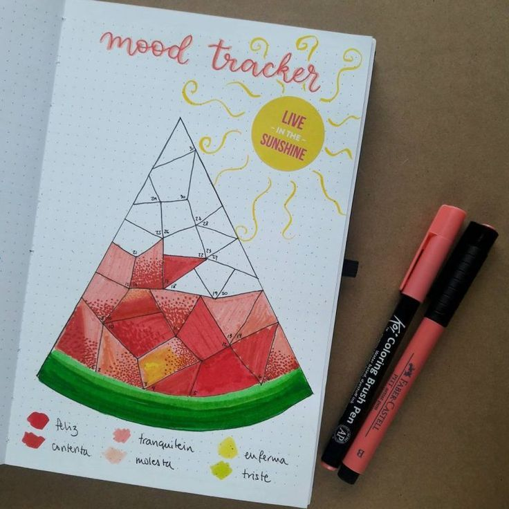 Watermelon bullet journal concepts – Isabelle Hildwein